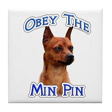 Min Pin Obey Tile Coaster
