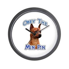 Min Pin Obey Wall Clock