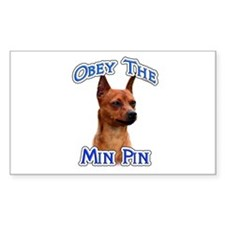 Min Pin Obey Rectangle Decal