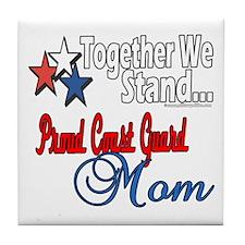 Coast Guard Mom Tile Coaster