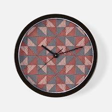 Patchwork Quilt Wall Clock