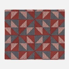 Patchwork Quilt Throw Blanket