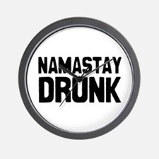 Namastay Drunk Wall Clock