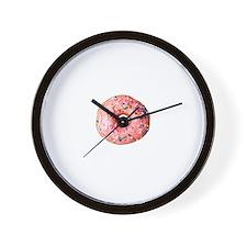 Pink Doughnut Wall Clock