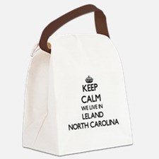 Keep calm we live in Leland North Canvas Lunch Bag