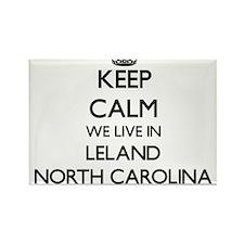 Keep calm we live in Leland North Carolina Magnets