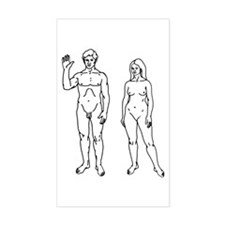 Nude Couple Rectangle Decal