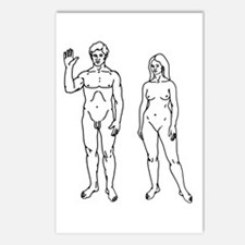 Nude Couple Postcards (Package of 8)