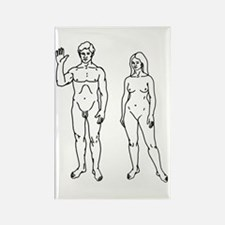 Nude Couple Rectangle Magnet