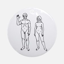 Nude Couple Ornament (Round)