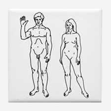 Nude Couple Tile Coaster