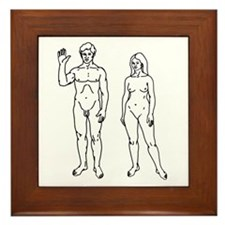 Nude Couple Framed Tile