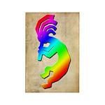 Rainbow Kokopelli Rectangle Magnet