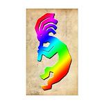 Rainbow Kokopelli Rectangle Sticker