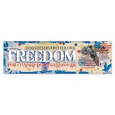 Freedom (bumper) Bumper Bumper Sticker