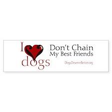 I Love Dogs (bumper) Bumper Bumper Sticker