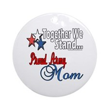 Proud Army Mom Ornament (Round)