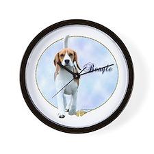 Beagle Portrait Wall Clock
