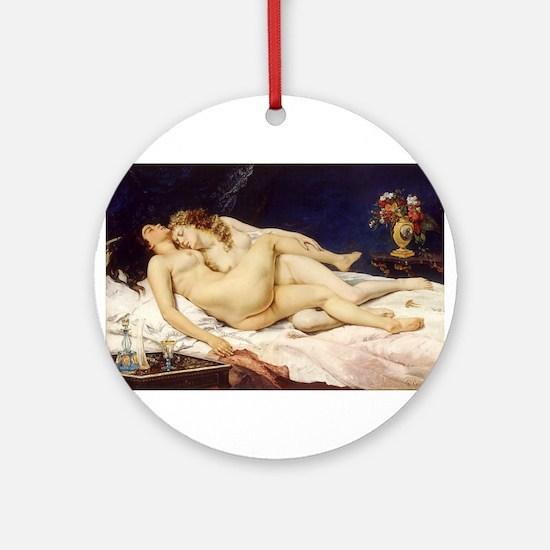Classic nude art Ornament (Round)