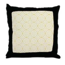 Custard Yellow & White Lace 2 Throw Pillow
