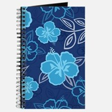 Hawaiian Hibiscus Pattern Blue Journal