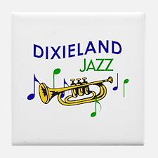 DIXIELAND JAZZ Tile Coaster