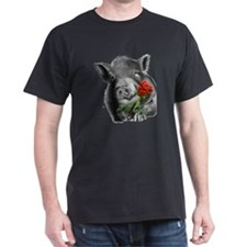 lucy the wonder pig with a long stem  T-Shirt
