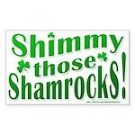 Shimmy Shamrocks Sticker (Rect.)