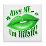 Kiss Me Irish Tile Coaster
