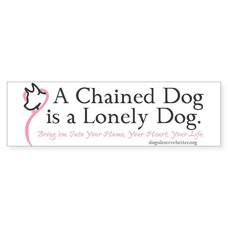 Lonely Dog (bumper) Bumper Sticker