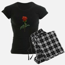 long stem red rose for valentines day Pajamas