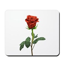 long stem red rose for valentines day Mousepad