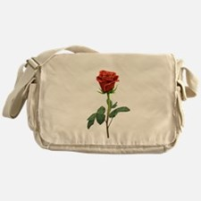 long stem red rose for valentines day Messenger Ba