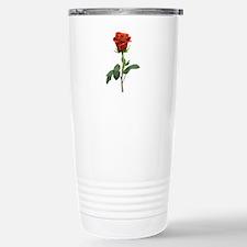 long stem red rose for valentines day Travel Mug