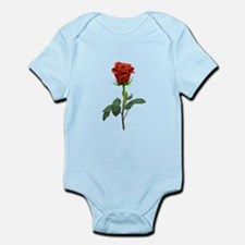 long stem red rose for valentines day Body Suit