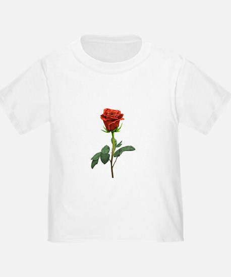 long stem red rose for valentines day T-Shirt