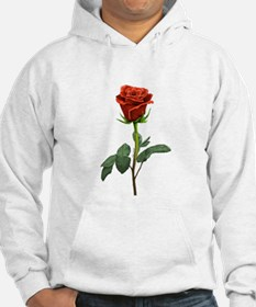 long stem red rose for valentines day Hoodie