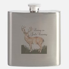 LIVING IN GODS COUNTRY Flask