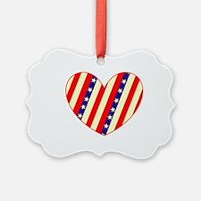 Heart Stars Stripes Amor for Carl Ornament