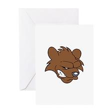 BEAR HEAD Greeting Cards