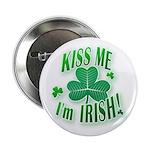 Kiss Me Shamrock Button