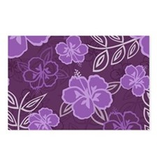 Hawaiian Hibiscus Pattern Postcards (Package of 8)