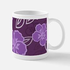 Hawaiian Hibiscus Pattern Purple Small Mugs