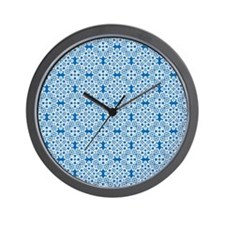 Dazzling Blue & White Lace 2 Wall Clock
