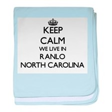 Keep calm we live in Ranlo North Caro baby blanket