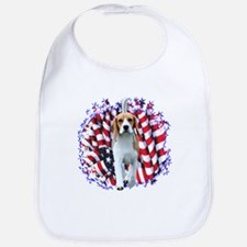 Beagle Patriot Bib