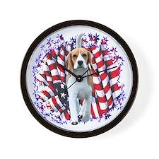 Beagle Patriot Wall Clock