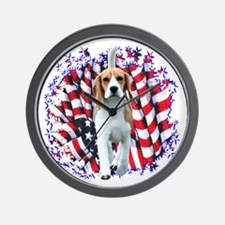 Beagle Patriot Wall Clock