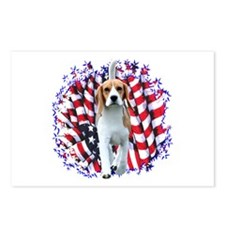 Beagle Patriot Postcards (Package of 8)