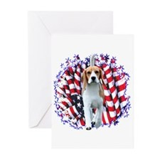 Beagle Patriot Greeting Cards (Pk of 10)